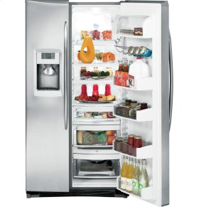 GE Profile™ ENERGY STAR® 25.6 Cu. Ft. Side-by-Side Refrigerator with Dispenser