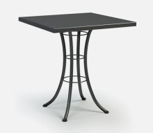 """36"""" Square Bar Table (with Hole) Ht: 40"""" Classic Steel Base (Model # Includes Both Top & Base)"""