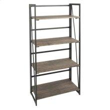 Dakota Bookcase - Black Metal, Wood