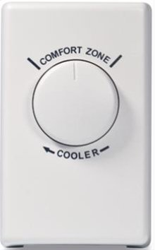 Thermostat in White; Ventilation Fans