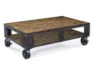 Rectangular Cocktail Table (2 Braking Casters) Product Image