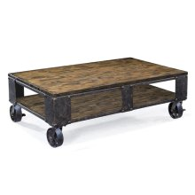 Rectangular Cocktail Table (2 Braking Casters)