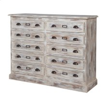 EUROPEAN FARMHOUSE 10-DRAWER DRESSER