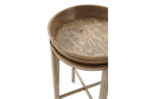 Newton Accent Table, Echo Oak