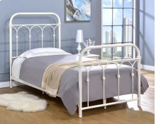 Hallwood Bed - Twin, Antique White Finish