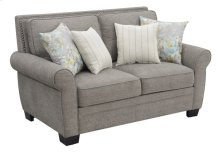 Loveseat W/4 Accent Pillows-brown #sequoia Bark