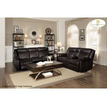 Double Reclining Sofa with Center Drop-Down Cup Holders
