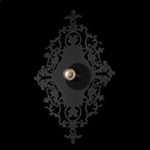 1-LIGHT WALL SCONCE - Black