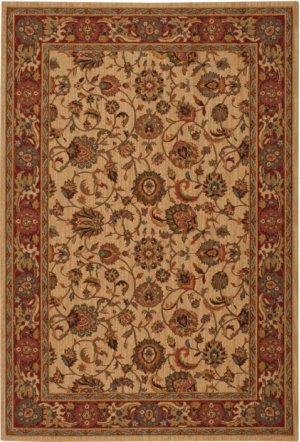 Hard To Find Sizes Grand Parterre Pt01 Natrl Rectangle Rug 5' X 7'
