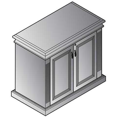 New Two Door Storage Cabinet Set