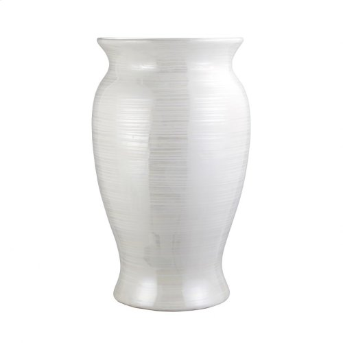 Harmony Vase Pearl White Large
