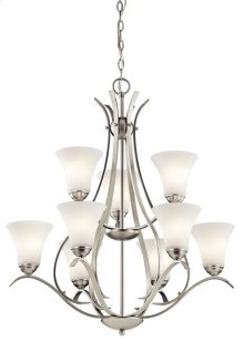 Keiran 9 Light 2 Tier Chandelier Brushed Nickel