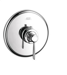 Chrome Thermostat for concealed installation with lever handle