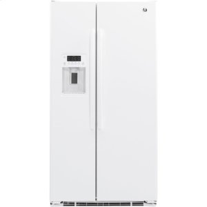 ®21.9 Cu. Ft. Counter-Depth Side-By-Side Refrigerator - WHITE
