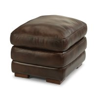 Dylan Leather Ottoman without Nailhead Trim Product Image