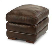 Dylan Leather Ottoman without Nailhead Trim
