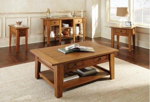 """Liberty Chairside End Table Oak, 13""""x28""""x24"""""""