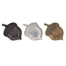 Harvest Aluminum Acorn Dishes - Ast 3