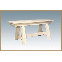 Homestead Small Plank Style Bench