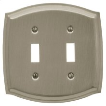 Satin Nickel Colonial Double Toggle