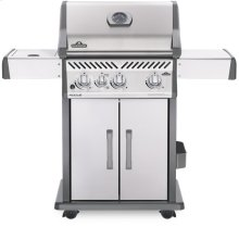Rogue® 425 Propane Gas Grill with Infrared Side Burner, Stainless Steel