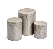 Fabrice Round Boxes - Champagne