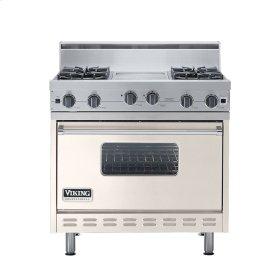 """Oyster Gray 36"""" Open Burner Range - VGIC (36"""" wide, four burners 12"""" wide griddle/simmer plate)"""