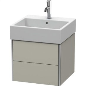 Vanity Unit Wall-mounted, Taupe Satin Matt Lacquer