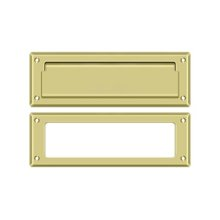 """Mail Slot 8 7/8"""" with Interior Frame - Polished Brass"""