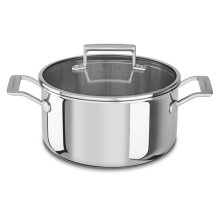 Tri-Ply Stainless Steel 6-Quart Low Casserole with Lid