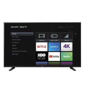 """Sharp60"""" Class (59.5"""" diag.) 4K Sharp Roku TV with HDR"""