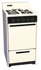"""Bisque Gas Range In Slim 20"""" Width With Electronic Ignition Product Image"""