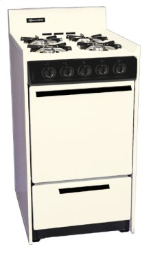"""Bisque Gas Range In Slim 20"""" Width With Electronic Ignition"""
