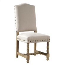 Linen Madrid Chair with Nailheads