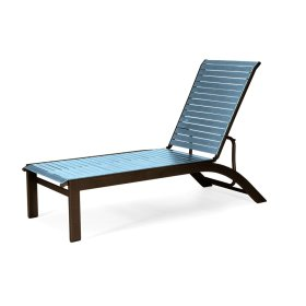 Kendall Contract Strap Lay-flat Stacking Armless Chaise