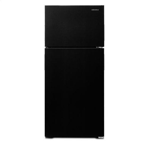 28-inch Wide Top-Freezer Refrigerator with Full-Width Crisper Drawer - 16 cu. ft. - black
