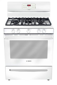 "30"" Gas Freestanding Range 300 Series - White HGS3023UC"