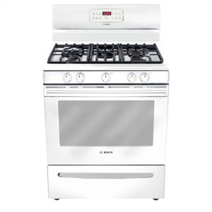 "Bosch30"" Gas Freestanding Range 300 Series - White HGS3023UC"
