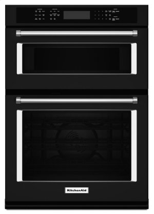 "27"" Combination Wall Oven with Even-Heat True Convection (lower oven) - Black Product Image"
