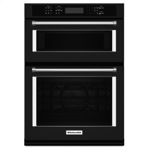 "Kitchenaid27"" Combination Wall Oven with Even-Heat True Convection (lower oven) - Black"