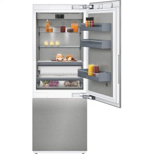 "Gaggenau400 series 400 series two-door bottom freezer With fresh cooling close to 32 (degree)F Fully integrated Niche width 30"" (76.2 cm)"