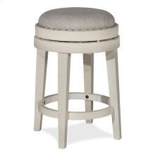 Carlito Backless Counter Stool - Weathered White