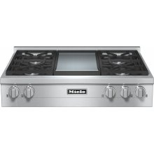 KMR 1136 G RangeTop with 4 burners and griddle for versatility and performance