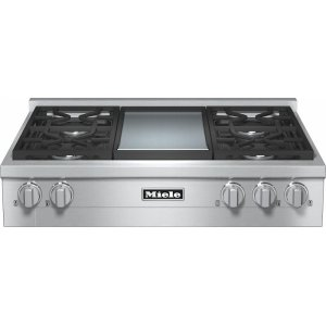 KMR 1136 G RangeTop with 4 burners and griddle for versatility and performance Product Image