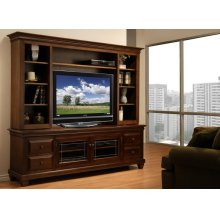 Florentino HDTV Cabinet with Hutch with 54'' TV Opening