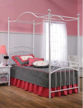 Emily Twin Canopy Bed Set