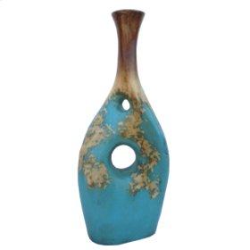Textured Turquoise Twisted Jar