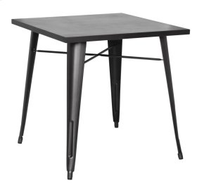 Metropolis KD Metal Dining Table, Gunmetal
