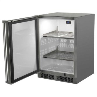 24-In Outdoor Built-In All Refrigerator with Door Swing - Left