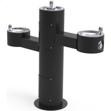Elkay Outdoor Fountain Tri-Level Pedestal Non-Filtered, Non-Refrigerated Black